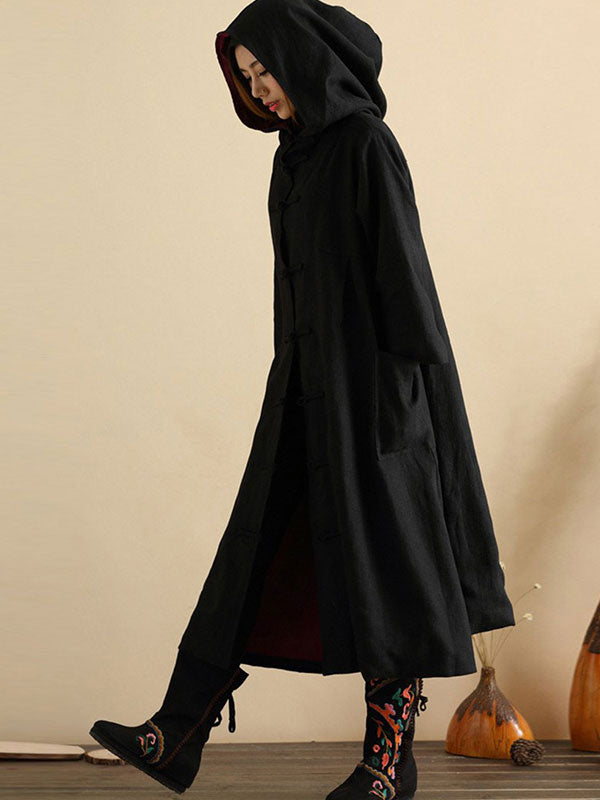 Midnight Elven Hooded Coat