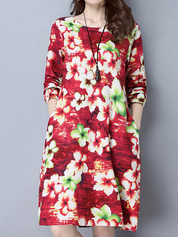 Floral Lagoon Midi Dress