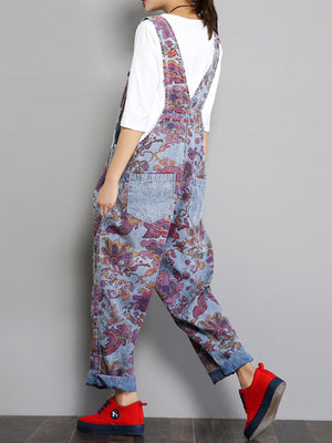 Blooming Flowers Overall Dungarees
