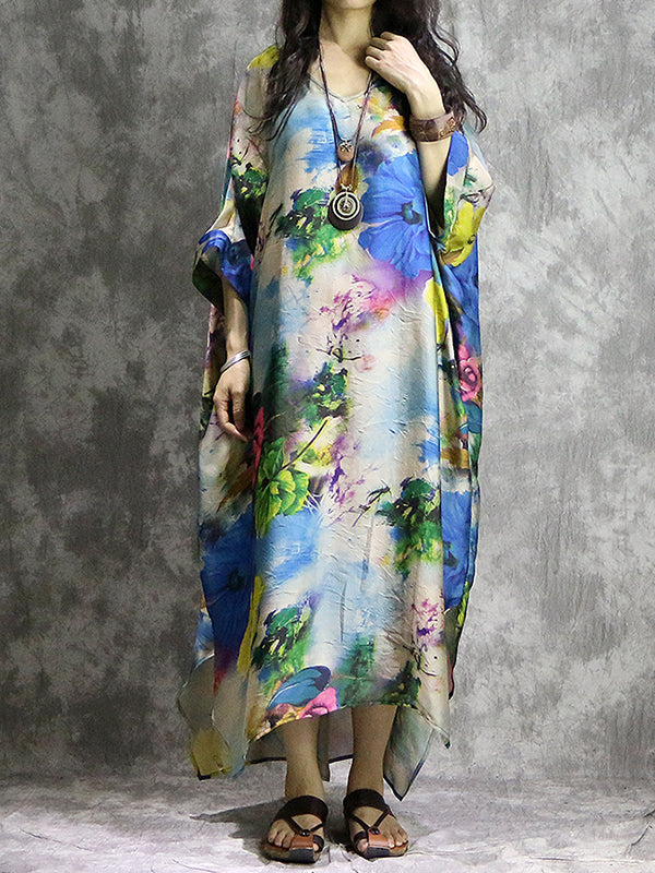 Abstract Space Kaftan Dress