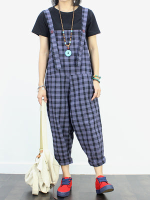 Chestard Check Overall Dungarees