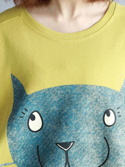 Murmur Kitty Cotton Top