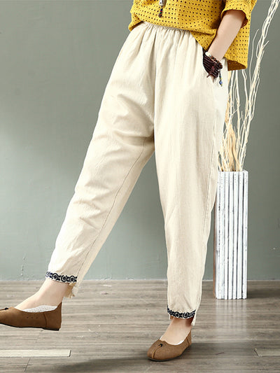 Saxon Cotton & Linen Pants