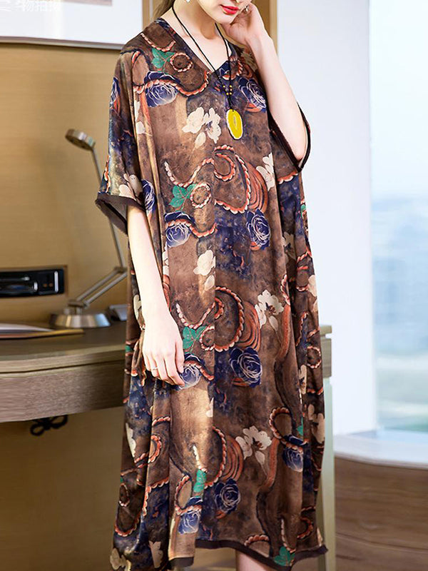 Erdem Etta Print Loose Shift Dress