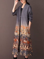 Moment to Live Kimono Style Button Waist A-Line Dress