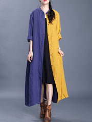 Night By The Fire Linen Shirt Dress