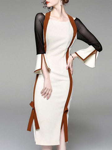 Feel The Luxe Color Block Bodycon Dress