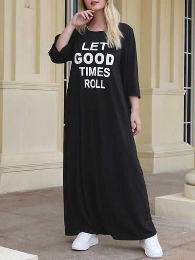 Let Good Times Plus Size Sweater Dress
