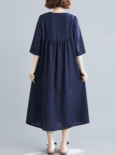 Back To Nature Cotton A-Line Dress