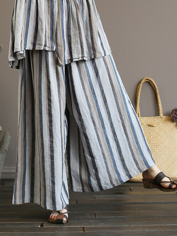 Surprise Stripe Wide Leg Pants