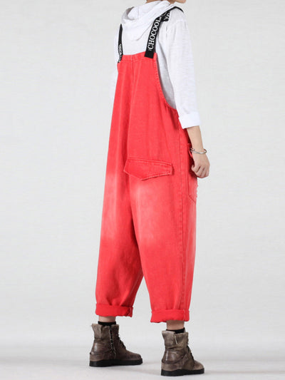 Everything and More Over-Sized Cotton Overalls Dungaree