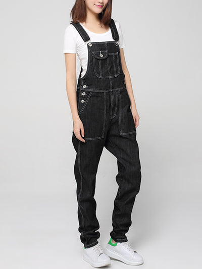 Mid-Rise Straight Leg Overalls (USA ONLY)