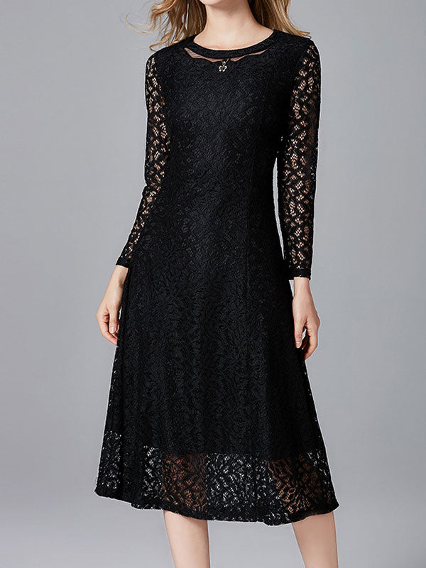 Rebellious Lace A-line Dress