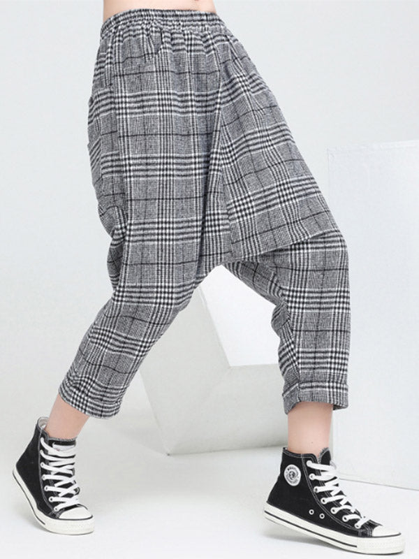 Plaid Party Harem Pants