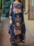 Spring Floral Cheongsam Maxi Dress