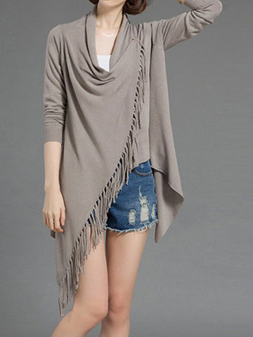 Tassel Knitted Sweater Top