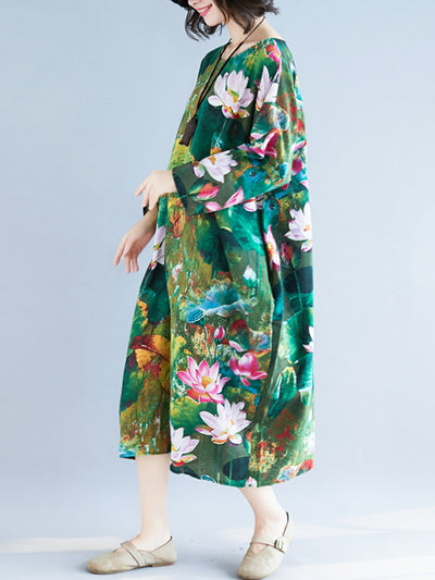 Lilly Lotus Midi Dress