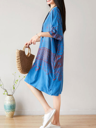 Pointelle Elegance Ethnic Midi Dress
