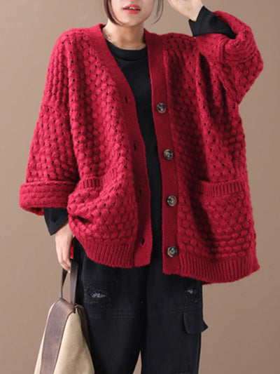Granny Oversize Hollow Cardigan Sweater