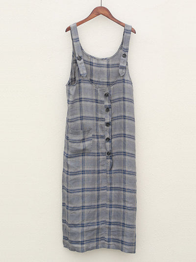 Purely Pretty Plaids Overall Midi Dress