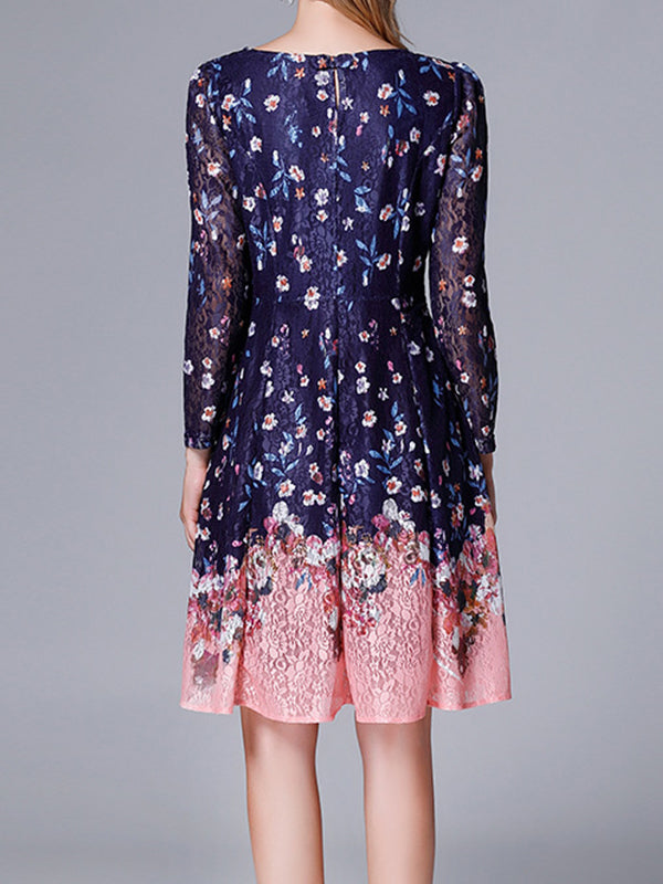 Galaxy Floral Lace Dress