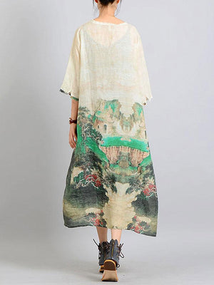 Toile Valley A-line Dress