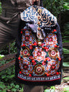 Boho Embroidered Cross-Body Hmong Backpack