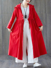 Stringy Selvedge Linen Cape Coat