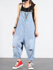 First Look Cotton Ripped Overall Dungarees