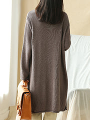 Two-pocket knitted Sweater Top