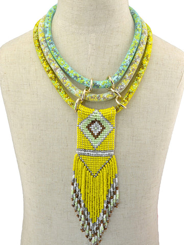 Snake Beaded Necklace