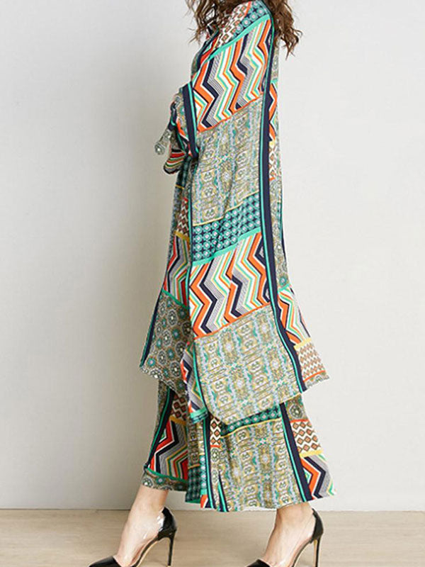 Ethnic Trellis Pajama Dress