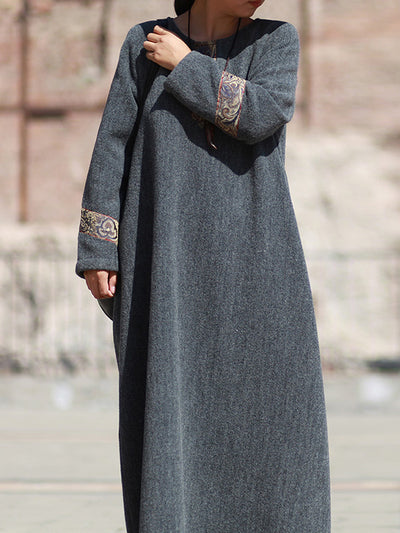 Out of The Woods Woolen Maxi Dress