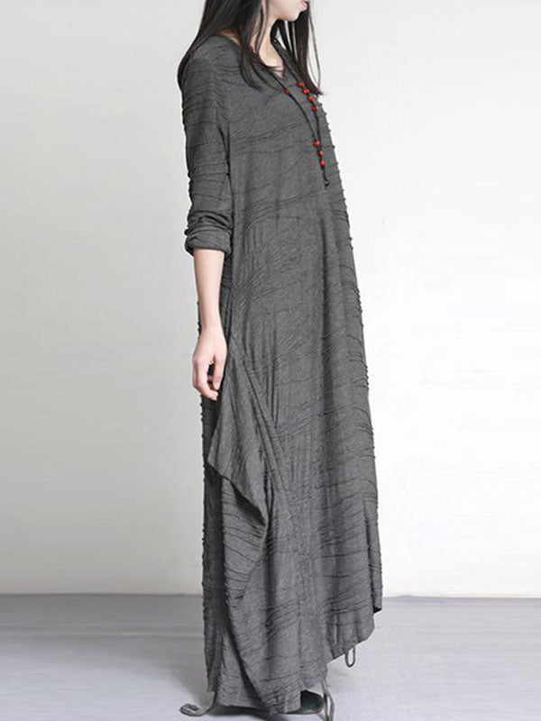 Ribbon Hem Maxi Dress
