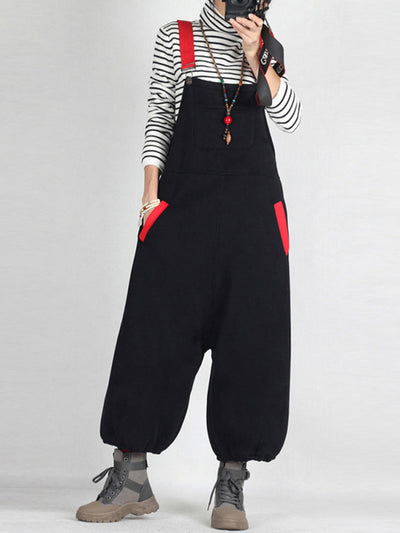 Slicker Than Your Average Black Overalls Dungaree