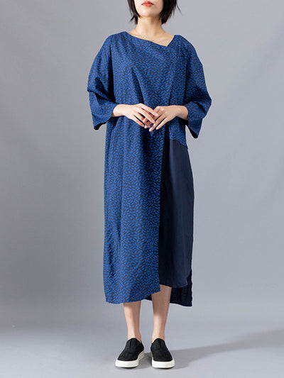 Blues Asym Shivering Midi Dress