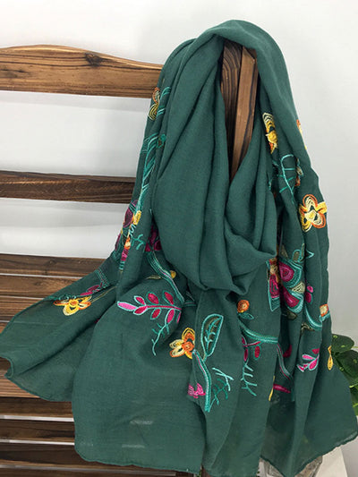 Camilla Embroidered Scarf