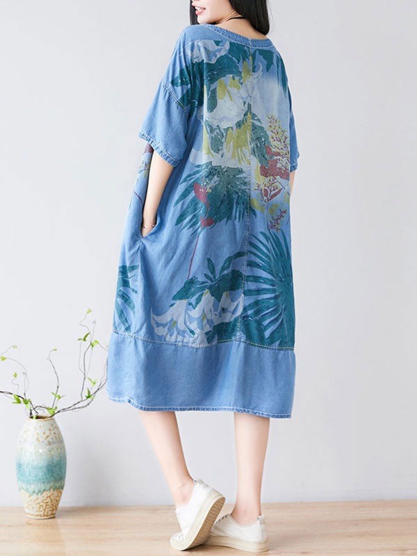 Tropical Season Midi Dress