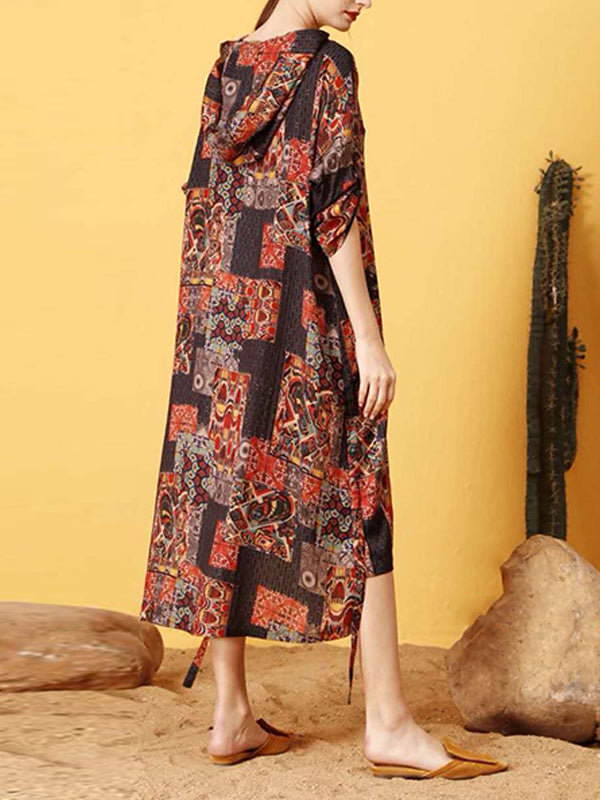 Nell Contrasting Floral Print Square Maxi Dress