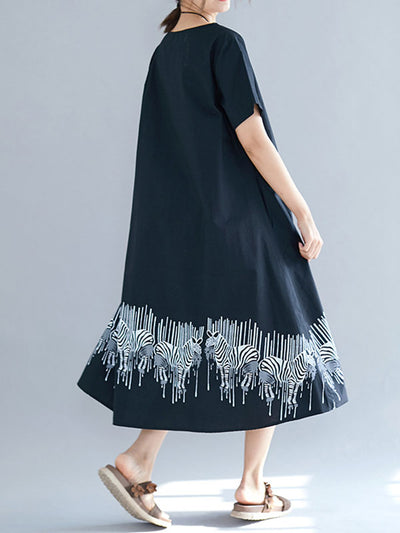 Growing Adoration Cotton A-Line Midi Dress