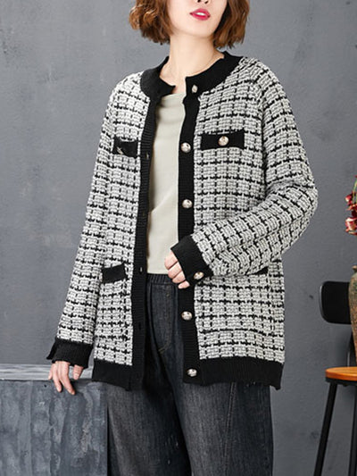 Excellent Example Textured Cardigan Sweater