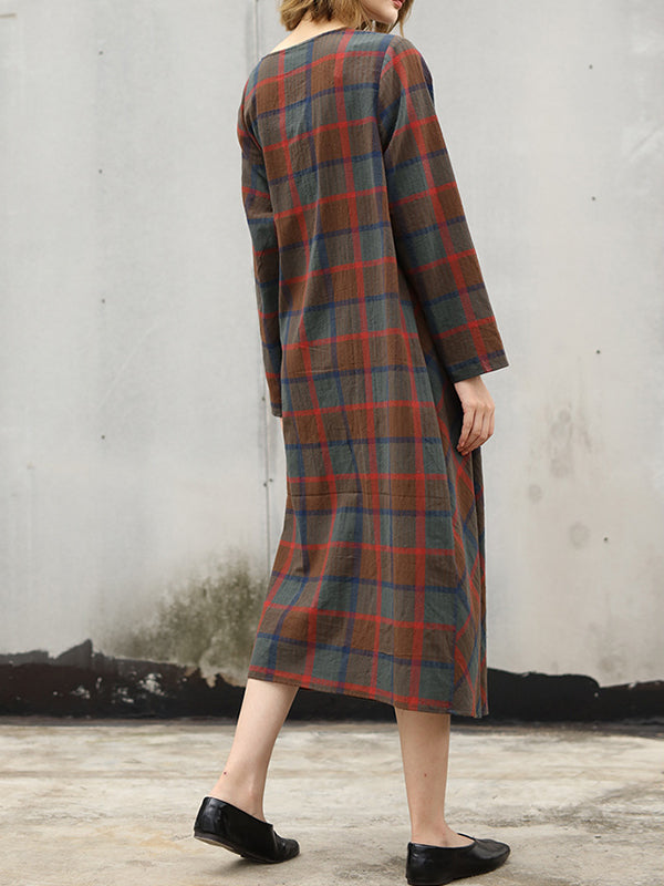 Plaid Holder Shift Dress