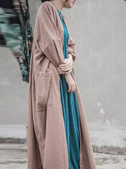 Oversized Pocket Button Down Coat