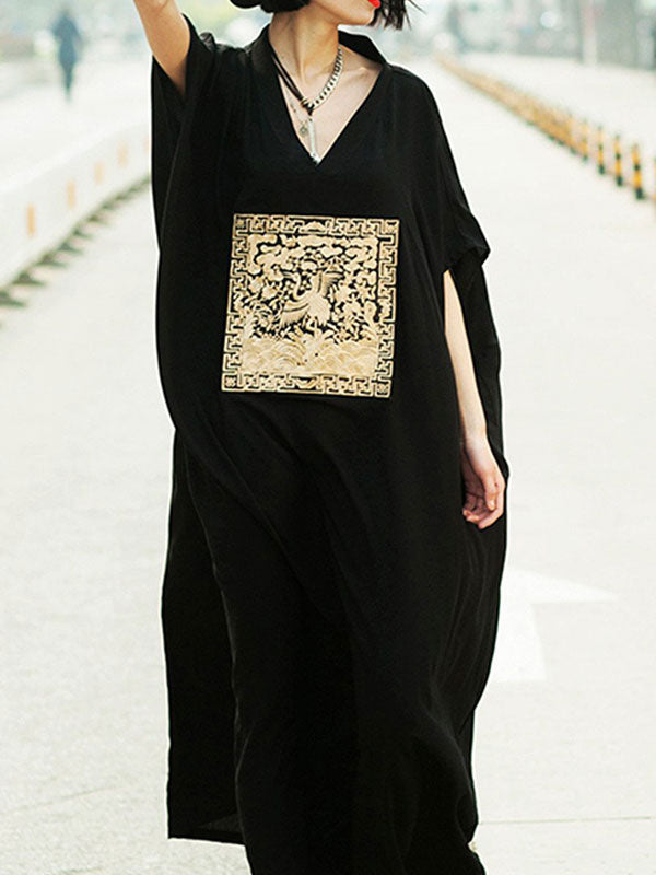 Bird Art Kaftan Dress