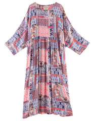 True Friends Abstract Print Cotton Smock Dress