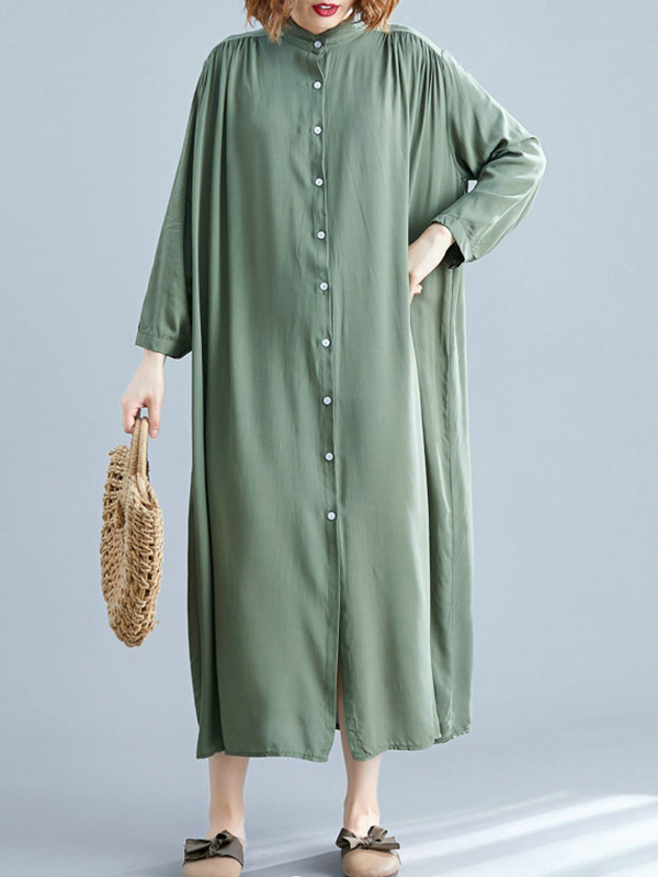 She's All Tiki Midi Shirt Dress