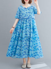 Dream As If Cotton A-Line Dress