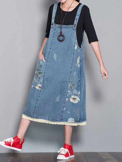 Courageous Taste Overall Midi Dress
