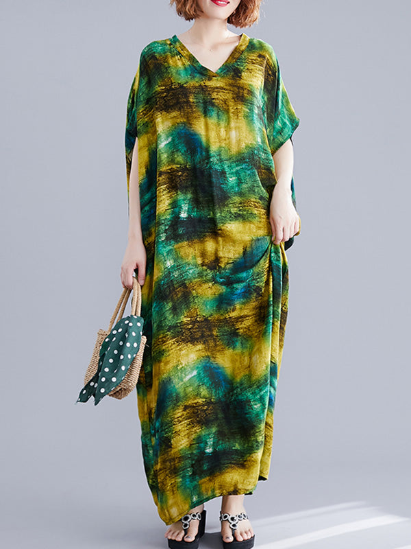 Solid Choice Kaftan Maxi Dress
