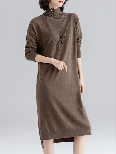 Mod For Each Other Turtle-Neck Sweater Dress